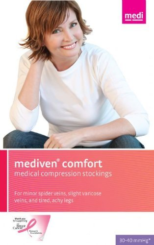 Medi Comfort Thigh High (Medi Comfort Compression Thigh High Petite w/sil band 30-40mmHg Closed Toe, I, Natural by Medi)
