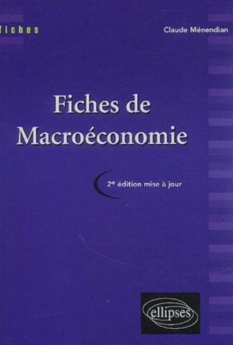 Fiches de macroéconomie