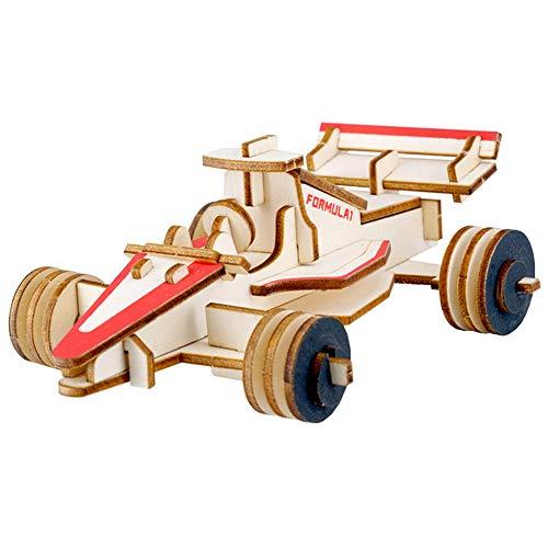e Spielbretter Lernspielzeug Jigsaw Puzzle DIY Gleichungsautomodell Puzzlespiel Blöcke Pädagigisches Spielzeug Holz für Kinder über 7 Jahre alt 17.5*12*6.3CM ()