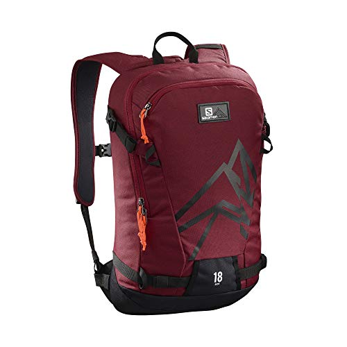 Salomon Mochila ligera para esquí 18L, side 18, rojo (Biking Red) y negro