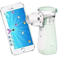 Preisvergleich für Inhalator Vernebler, Yirdoc tragbares Inhaliergerät mit umfangreichem Zubehör, und iOS Android App für Kinder...