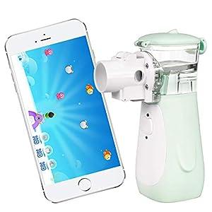 Inhalator Vernebler, Yirdoc tragbares Inhaliergerät mit umfangreichem Zubehör, und iOS Android App für Kinder und Erwachsene, zur Aerosol Therapie