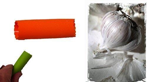 Knoblauchschäler orange Knoblauchschäler Knoblauch Schäler Reibe Presse Silikon