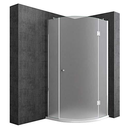 duschabtrennung viertelkreis Duschabtrennung Viertelkreis 90 x 90 cm 8mm ESG-Sicherheitsglas, Eck-Dusche mit Lotuseffekt durch Nano-Beschichtung Ravenna06S