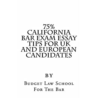 75% California Bar Exam Essay Tips For UK and European Candidates  - e law school book Electronic Lending Allowed: - e law school book Electronic Lending Allowed