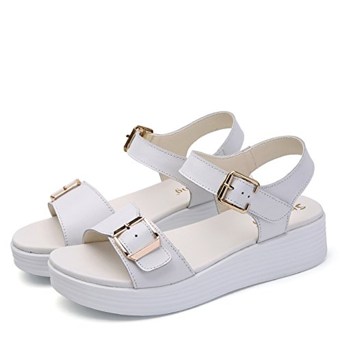 Summer,Lady,Un Mot Avec,Thick-soled,Casual Shoes/Plat,Sandales à Talon Moyens A