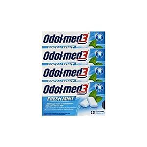 4x ODOL MED 3 Fresh Mint Kaugummi PZN 34157