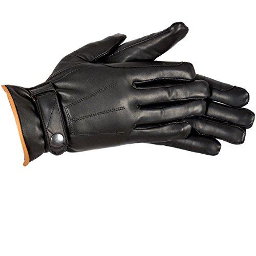 Riders Trend Erwachsene Handschuhe von Winterhandschuhe Rindsleder REIT Alanin mit Thinsulate-Futter, Black/Tan, XXL (Herren Thinsulate Handschuhe Xxl)