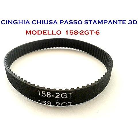 CINGHIA CHIUSA PER STAMPANTE 3D 158mm GT2 TIMING MENDEL PRUSA (Cinghia Della Gomma Di Silicone)