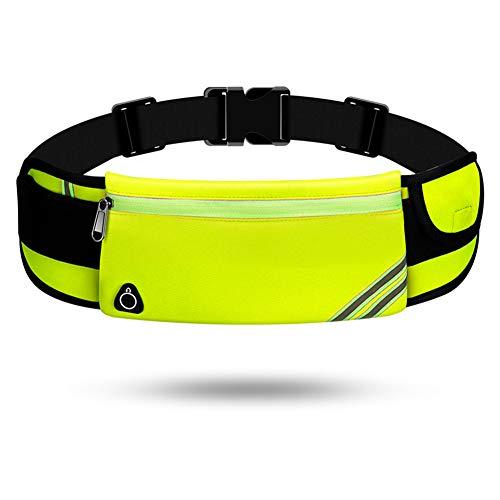 Lauftasche für Handy, Laufgürtel Schlüssel Hüfttasche, Sport Jogging Fitness Gürtel iPhone 6 7 Plus + Samsung Galaxy S7 Edge S8 + Plus Huawei HTC ZTE UVM. (D,Einschichtiger Reißverschluss)