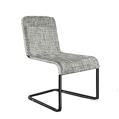 LSHUAIDJ Netzstuhl für Bürobögen/ergonomischer Bogenstuhl/für Wohnzimmer, Esszimmer/faltbar/Netz, Edelstahl/Angeln im Freien/Camping - Esche Gepolstert Stuhl