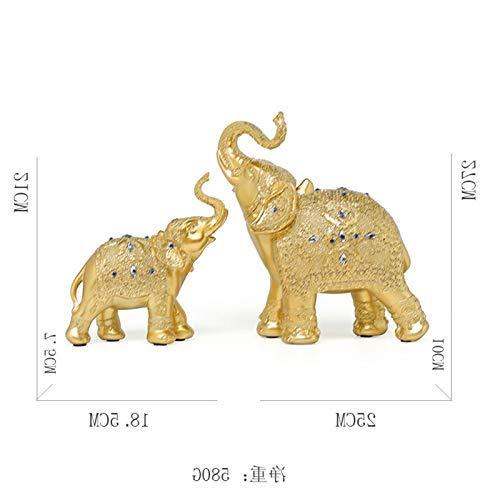 WENYAO Willower Personality Weinschrank Dekoration Schlafzimmer Wohnzimmer Kreativraum europäischen TV-Schrank Handwerk Einrichtung kleines Zuhause, Orange-Rot und Golden Deluxe Edition of Elephants -