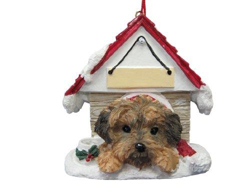 E&S Pets yorkipoo Hund Doghouse personalisierten Weihnachten Ornament -