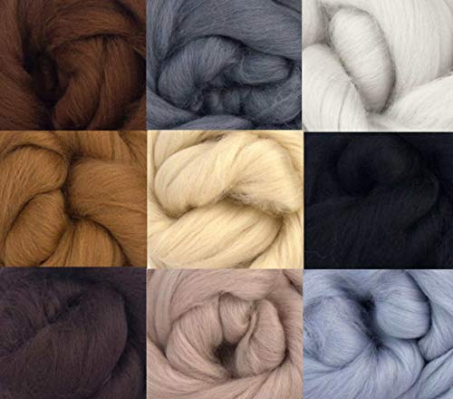 Merino Wool Tops - NEUTRAL TONES - Pack of 9
