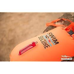 Swim Secure.Boya seguridad natación aguas abiertas, triatlon. 28 litros color naranja