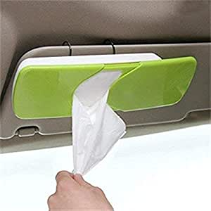 Maharsh Auto Accessories Car Sun Visor Tissue Box Paper Napkin Holder with Tissue(Multicolor-1pc)