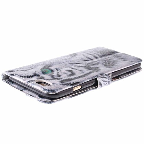 iPhone 6/6S Hülle im Bookstyle, Xf-fly® PU Leder Flip Wallet Case Schutzhülle für Apple iPhone 6/6S Tasche Handytasche mit Magnetverschluss Kartenfach Standfunktion Muster Handyhülle P-4