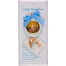 Médaille Baptême Cadeau pour un bébé garçon-Bleu-Coffret Cadeau