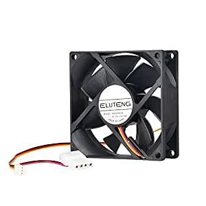 ELUTENG PC FAN 90mm 12V Be Quiet Ventola Raffreddamento PC Case Silenzioso Termosifone con 4 PIN + 3 PIN Interfaccia Idraulici Interno Ventola PC Cooler