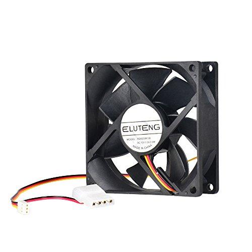 ELUTENG Lüfter 80mm für DIY-Computer Lüfter 12v mit 3 Pin und 4 Pin Netzteilkabel PC Ventilator be Quiet Gehäuselüfter 8cm Cooling Fan Cpu-lüfter 80mm