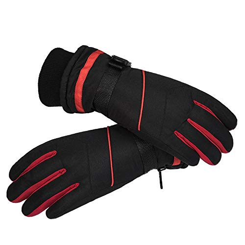 BZAHW Inverno Spessore Guanti da Sci Impermeabile da Moto Guanti Guida Maschio più Velluto Guanti Caldi d'inverno in Bicicletta Gli Studenti (Color : Style 2-Black, Size : One Size)
