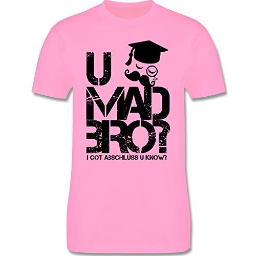 Abi & Abschluss - U MAD BRO? I got Abschluss u know. - Herren Premium T-Shirt Rosa