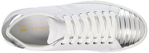 TRUSSARDI JEANS by Trussardi 79s60753, Sneakers basses femme Multicolore (White/Silver)