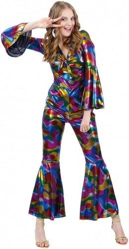 Disco Kostüm für Damen Gr. M Schlager Schlagermove 70er Hippie Party Karneval Boland 87487 (Disco Kostüme)