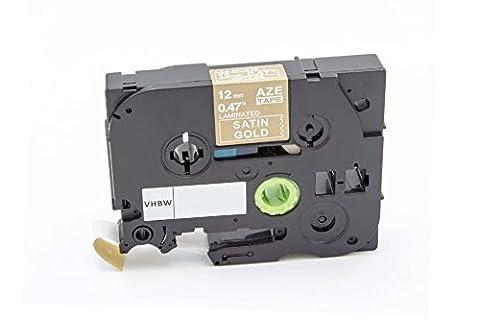 vhbw Cartouche cassette à ruban 12mm pour Brother P-Touch 1100SBVP, 1100ST, 1130, 1150, 1150DX, 1160, 1170 comme TZE-MQ835, TZ-MQ835