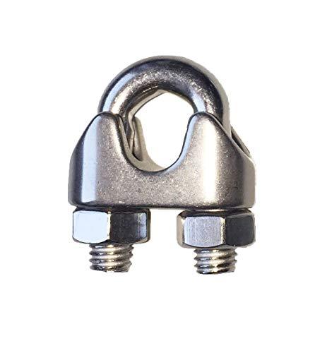Seilwerk STANKE 25 x Seilklemme B/ügelform aus Edelstahl Inox Gr/ö/ße 5 f/ür 5 mm Drahtseile Rostfrei Seilverbinder