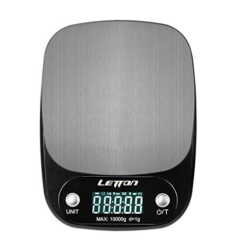 Kilokelvin Báscula Digital Cocina  Multi-Funciones: 1. Se puede pesar un gran rango de medición, hasta 10kg, y una precisión de 1g, fácil de pesar.  2. Puede cambiar fácilmente a 4 valores diferentes (g / ml / lb'oz / floz). 3. Auto-Apagado 4. Fácil ...