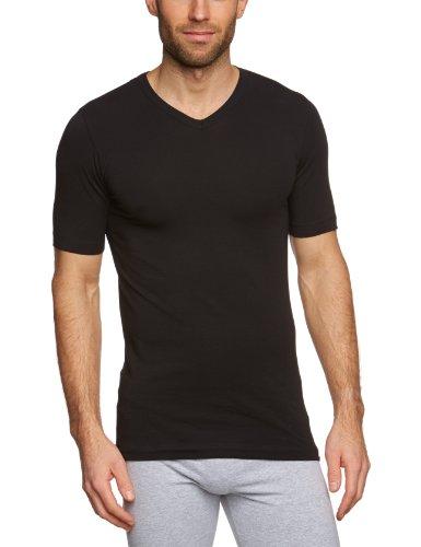 Schiesser Herren Shirt 1/2 Arm Unterhemd, Schwarz (000), 5 (M)