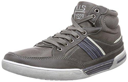 HIS His, Baskets hautes homme Gris - Grau (Charcoal Grey)