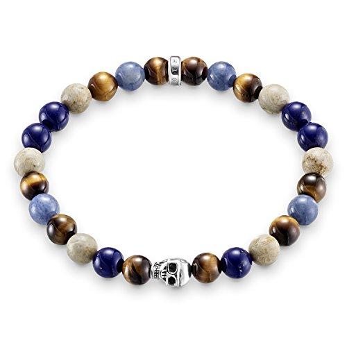 Thomas Sabo Damen Herren-Armband Rebel at Heart 925 Sterling Silber geschwärzt blau natur  Preisvergleich