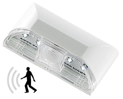 Türgriff Licht (Lunartec Türschloss Beleuchtung: Automatische LED-Türbeleuchtung mit PIR-Bewegungssensor (Schlüsselloch Licht))