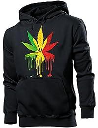 Reggae Cannabis Herren Hoodie Gr.S bis XXL
