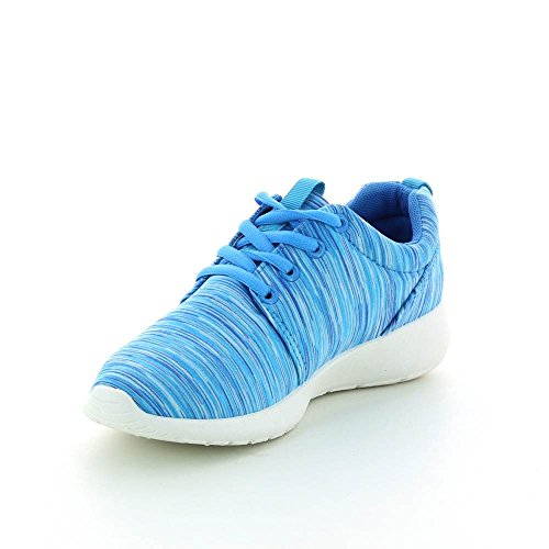 Baskets mode type running flashy Bleu