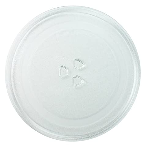 SPARES2GO Universal Glass Turntable Plate Dish for all makes of Microwave Oven (245mm)