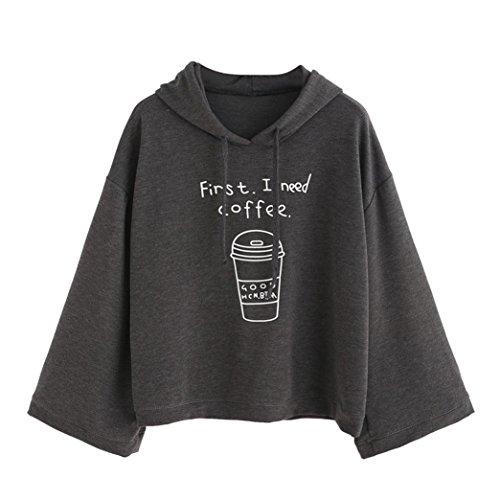 c7e0335ea95 BA Zha Fashion Women s Letter Print Hoodie Casual Tunic Loose Sweater Round Neck  Shirt Bat Coat Hooded Pullover Sweatshirt Long Sleeve Tops Sexy Blouse ...