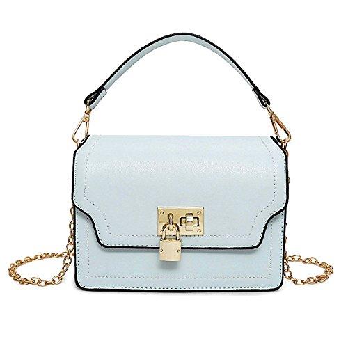 Meoaeo La Nuova Primavera Ed Estate Moda A Catena In Tutto-Match Sacchetta Bag Bianco Blue
