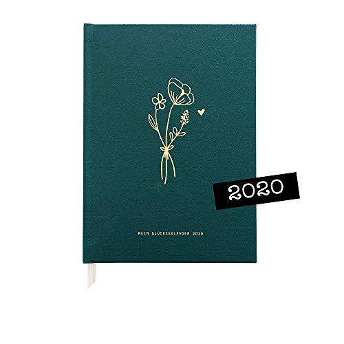 "Odernichtoderdoch Kalender\""Wild Flowers\"" - dunkelgrüner Glückskalender 2020, 13,5 cm x 18,5 cm"