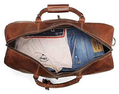 Cuir Carry on Bag–Avion Rangement sous Voyage Duffel Sacs par Rustique Town