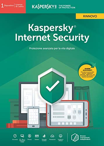 Kaspersky Internet Security 2019 1 Dispositivo | 1 Anno - Rinnovo