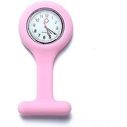 Facilla® Nurse's Fob Watch Fob Watch Quartz Watch Fashion Brand New Pink