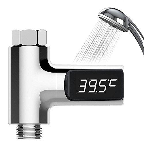 Umiwe Duschthermometer Digitales Baby Thermometer Macht Frei Wasser Badethermometer Bester Raum-Thermometer mit wasserdichtem LED-Schirm für Temperatur-sofortigen Erwerb