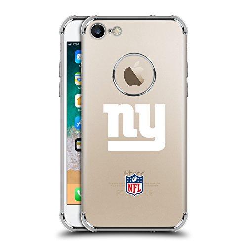 Head Case Designs Offizielle NFL Einfarbig New York Giants Logo 2 Silber Argent Silber Shockproof Fender Hülle für iPhone 7 / iPhone 8 (Fender Head)