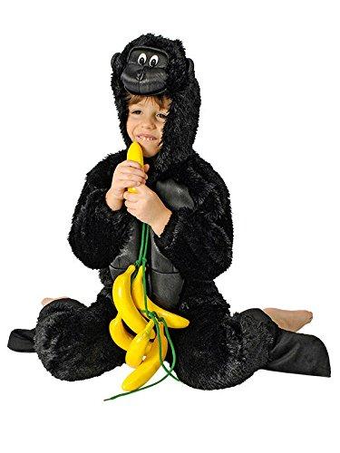 (Unbekannt Gorilla Kinderkostüm Overall schwarz 98/104 (3-4 Jahre))