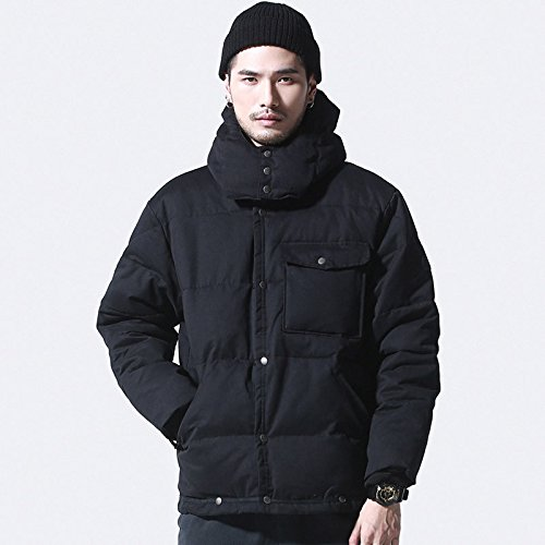 GAOLIM Reine Baumwolle Mens Winter Warmer Mantel Jungen, M, Schwarz (Winter Mantel Jungen North Face)