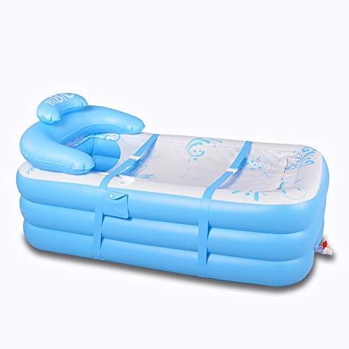 Bañera Inflable, Tumbado Baño de Aislamiento Adulto Pliegue plástico Barriles de baño...