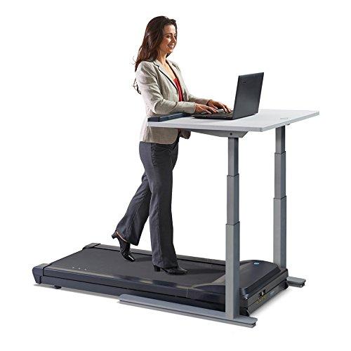 LifeSpan TR1200-DT7S Laufbandschreibtisch, Laufband fürs Büro mit elektrisch höhenverstellbarem Schreibtisch